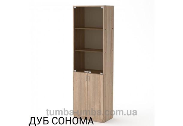 Фото недорогой стандартный мебельный распашной пенал КШ-6 ДСП с полками для дома и офиса в цвете дуб сонома дешево от производителя с доставкой по всей Украине