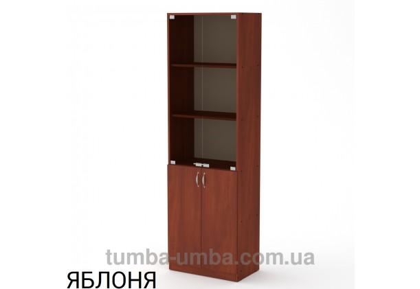 Фото недорогой стандартный мебельный распашной пенал КШ-6 ДСП с полками для дома и офиса в цвете яблоня дешево от производителя с доставкой по всей Украине