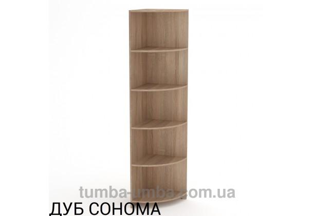 Фото недорогой стандартный мебельный открытый угловой Пенал-2 ДСП с полками для дома и офиса в цвете дуб сонома дешево от производителя с доставкой по всей Украине