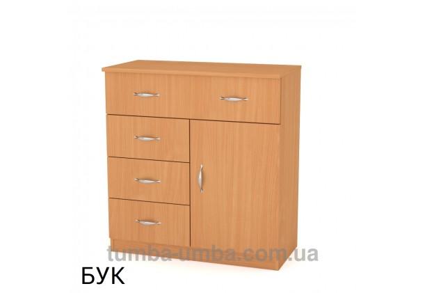 Фото недорогой современный комод 1-3-1 ширина 80см Компанит цвет бук в интернет-магазине TUMBA-UMBA™ Украина