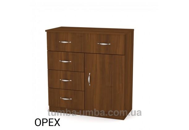 Комод 1-3-1 с дверцей и ящиками