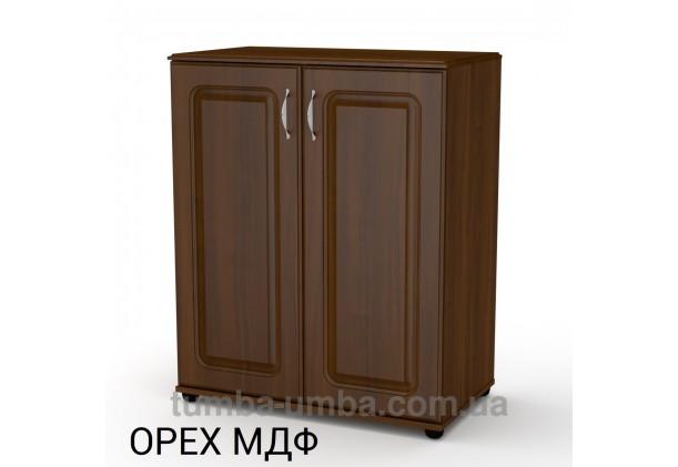 Фото недорогой современный комод - тумба 2Д МДФ с дверцами Компанит цвет Горіх Екко в интернет-магазине TUMBA-UMBA™ Украина