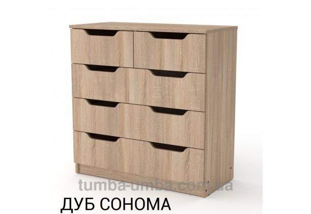 Фото недорогой современный комод 2+3М, 5 глубоких ящиков Компанит цвет дуб сонома в интернет-магазине TUMBA-UMBA™ Украина