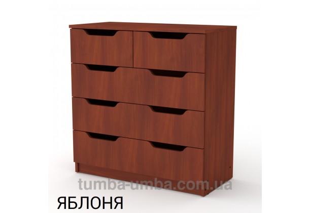 Фото недорогой современный комод 2+3М, 5 глубоких ящиков Компанит цвет яблоня в интернет-магазине TUMBA-UMBA™ Украина