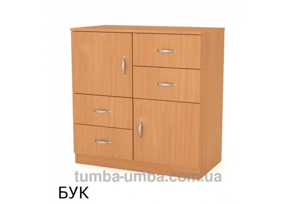 Фото недорогой современный комод 2+4 Компанит цвет бук в интернет-магазине TUMBA-UMBA™ Украина
