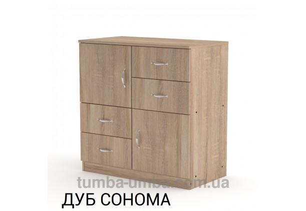 Фото недорогой современный комод 2+4 Компанит цвет дуб сонома в интернет-магазине TUMBA-UMBA™ Украина