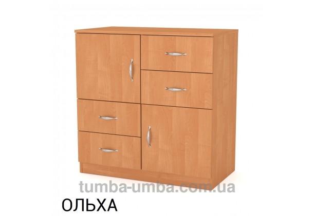 Фото недорогой современный комод 2+4 Компанит цвет ольха в интернет-магазине TUMBA-UMBA™ Украина