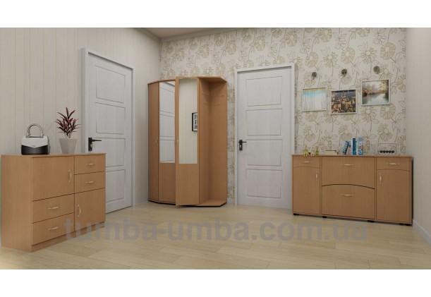 фото недорогой современный комод 2+4 Компанит в интерьере в комнате в интернет-магазине TUMBA-UMBA™ Украина
