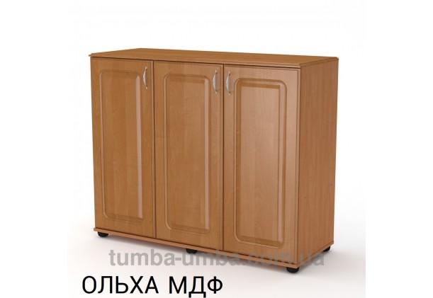 Фото недорогой современный комод - тумба 3Д МДФ с дверцами Компанит цвет ольха МДФ в интернет-магазине TUMBA-UMBA™ Украина