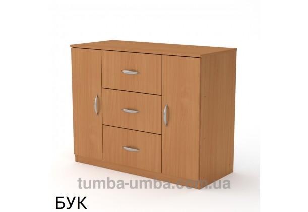 Фото недорогой современный комод 3+2 Компанит цвет бук в интернет-магазине TUMBA-UMBA™ Украина