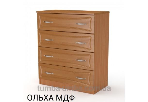Фото недорогой современный комод 4Б МДФ Компанит цвет ольха в интернет-магазине TUMBA-UMBA™ Украина