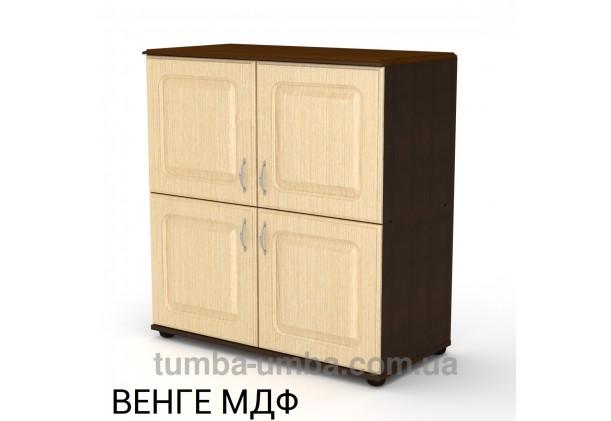 Фото недорогой современный комод - тумба 4Д МДФ с дверцами Компанит цвет венге в интернет-магазине TUMBA-UMBA™ Украина