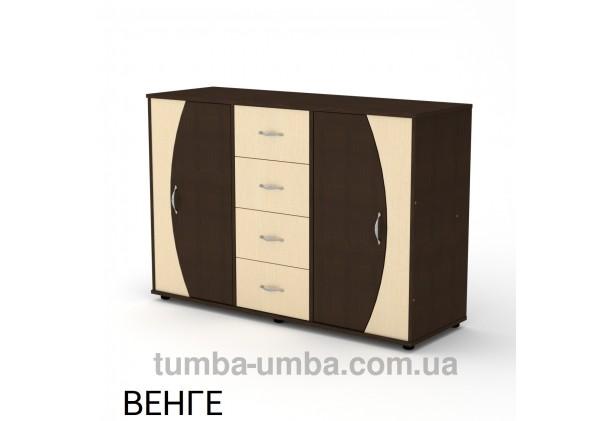 Фото недорогой современный комод 4-2-2 Компанит цвет венге в интернет-магазине TUMBA-UMBA™ Украина