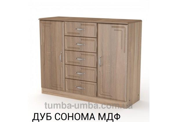 Фото недорогой современный комод 5+2 МДФ Компанит цвет дуб сонома в интернет-магазине TUMBA-UMBA™ Украина