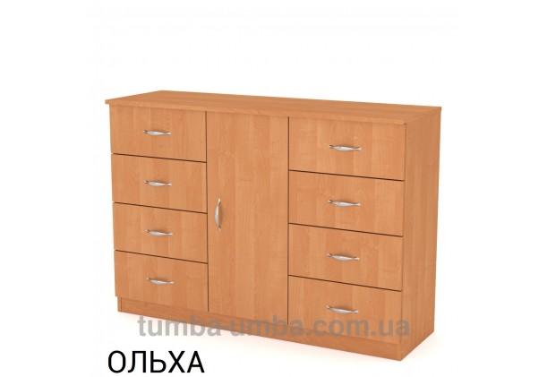 Фото недорогой современный комод 8+1 Компанит цвет ольха в интернет-магазине TUMBA-UMBA™ Украина