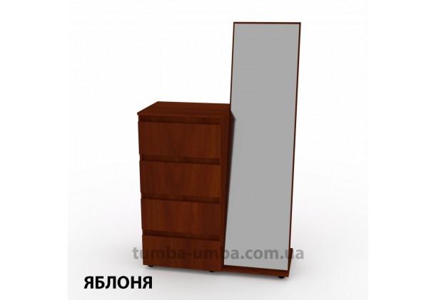 Фото недорогой современный Комод-Зеркало ДСП Компанит цвет яблоня в интернет-магазине TUMBA-UMBA™ Украина