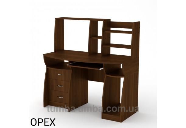 Фото готовый прямой стандартный стол Комфорт-3 в офис или домой для ноутбука или ПК в цвете Орех Экко дешево от производителя с доставкой по всей Украине