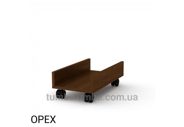 Фото мобильная офисная подставка МП-1 под системный блок на колесиках для ПК в кабинет в цвете Орех дешево от производителя с доставкой по всей Украине