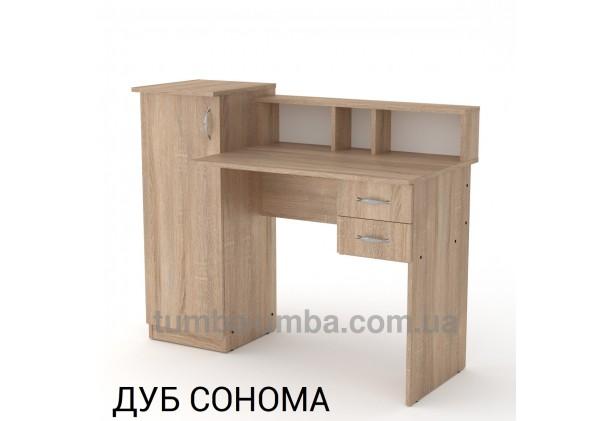 Фото готовый прямой стандартный стол Пипи-1 в офис, для ребенка, для дома или для учителя в цвете дуб сонома дешево от производителя с доставкой по всей Украине