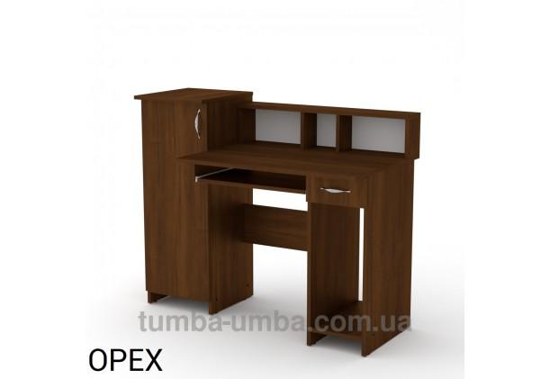 Фото готовый прямой стандартный стол Пипи-2 в офис или домой для ноутбука или ПК в цвете Орех Экко дешево от производителя с доставкой по всей Украине