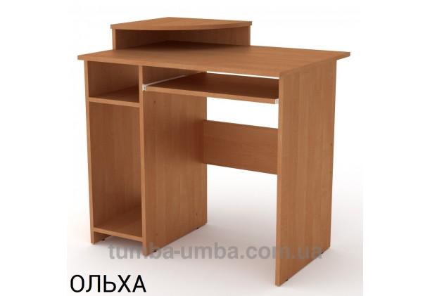 Фото готовый прямой стандартный стол СКМ-1 в офис или домой для ноутбука или ПК в цвете ольха дешево от производителя с доставкой по всей Украине