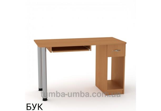 Фото готовый прямой стандартный стол СКМ-10 в офис или домой для ноутбука или ПК в цвете бук дешево от производителя с доставкой по всей Украине