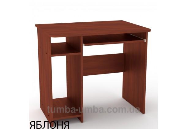 Фото готовый прямой стандартный стол СКМ-12 в офис или домой для ноутбука или ПК в цвете яблоня дешево от производителя с доставкой по всей Украине