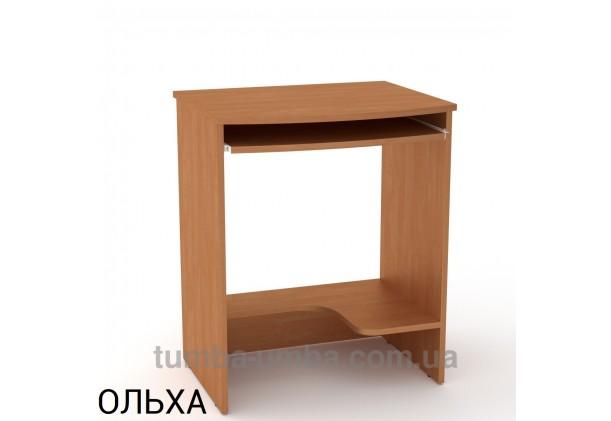 Фото готовый прямой стандартный стол СКМ-13 в офис или домой для ноутбука или ПК в цвете ольха дешево от производителя с доставкой по всей Украине