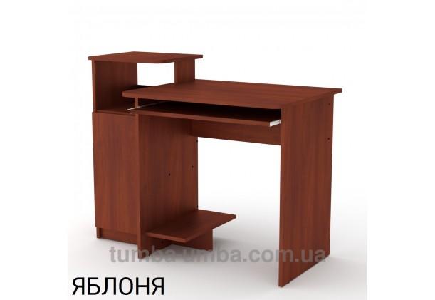 Фото готовый прямой стандартный стол СКМ-2 в офис или домой для ноутбука или ПК в цвете яблоня дешево от производителя с доставкой по всей Украине