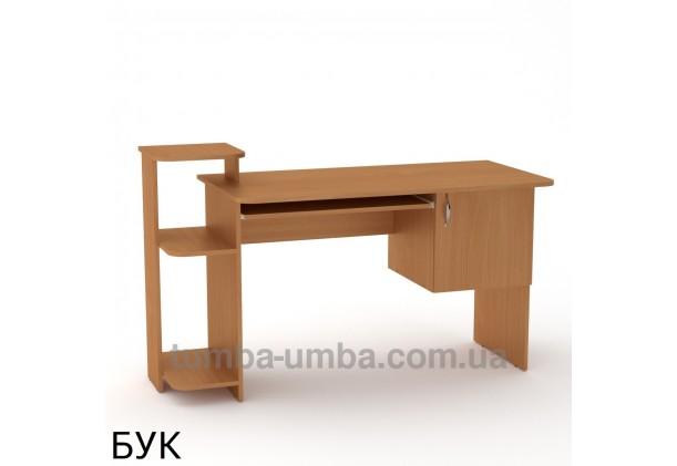 Фото готовый прямой стандартный стол СКМ-3 в офис или домой для ноутбука или ПК в цвете бук дешево от производителя с доставкой по всей Украине