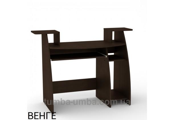 Фото готовый прямой стандартный стол СКМ-4 в офис или домой для ноутбука или ПК в цвете венге дешево от производителя с доставкой по всей Украине