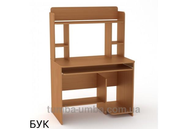 Фото готовый прямой стандартный стол СКМ-6 в офис или домой для ноутбука или ПК в цвете бук дешево от производителя с доставкой по всей Украине