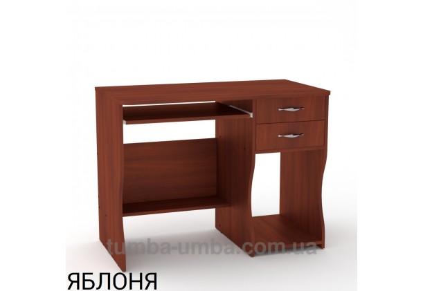 Фото готовый прямой стандартный стол СКМ-7 в офис или домой для ноутбука или ПК в цвете яблоня дешево от производителя с доставкой по всей Украине