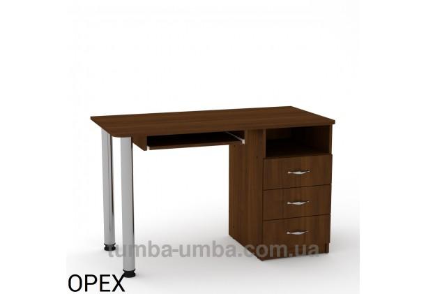 Фото готовый прямой стандартный стол СКМ-9 в офис или домой для ноутбука или ПК в цвете Орех Экко дешево от производителя с доставкой по всей Украине