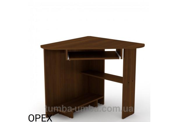 Фото готовый угловой стандартный стол СУ-15 в офис или домой для ноутбука или ПК в цвете Орех Экко дешево от производителя с доставкой по всей Украине