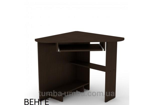 Фото готовый угловой стандартный стол СУ-15 в офис или домой для ноутбука или ПК в цвете венге дешево от производителя с доставкой по всей Украине