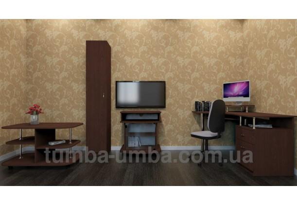 Фото готовый угловой стандартный стол СУ-2 в офис или домой для ноутбука или ПК в интерьере гостинной комнаты дешево от производителя с доставкой по всей Украине