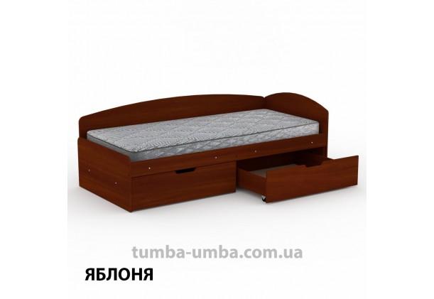 фото односпальная кровать 90+2С с бельевыми ящиками для хранения и бортиком в цвете яблоня дешево от производителя с доставкой по всей Украине.