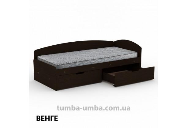 фото односпальная кровать 90+2С с бельевыми ящиками для хранения и бортиком в цвете венге дешево от производителя с доставкой по всей Украине.