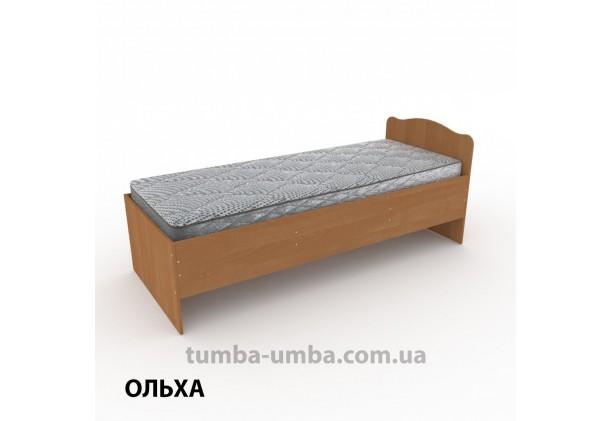 фото стандартная кровать 80 см Компанит в спальню, на дачу или для общежития в цвете ольха дешево от производителя с доставкой по всей Украине