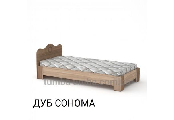 фото стандартная кровать-100 МДФ Компанит в спальню, на дачу или для общежития в цвете дуб сонома дешево от производителя с доставкой по всей Украине