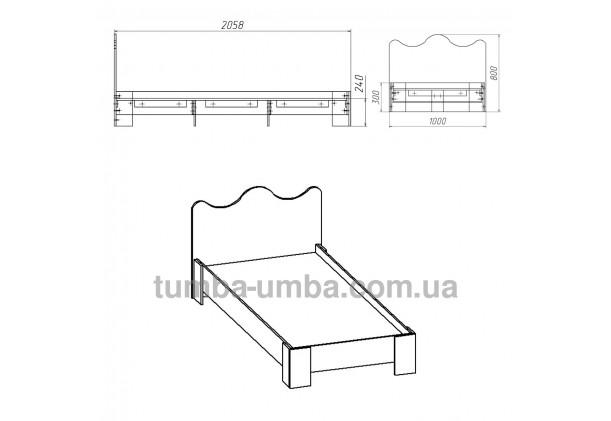 фото стандартная кровать -100 МДФ Компанит в спальню, на дачу или для общежития размеры дешево от производителя с доставкой по всей Украине