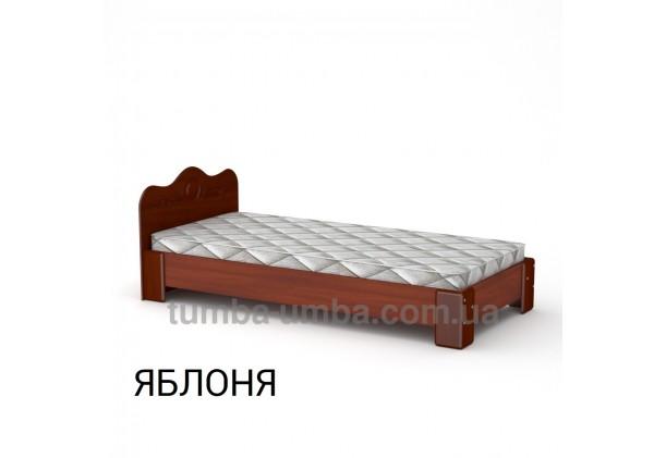 фото стандартная кровать-100 МДФ Компанит в спальню, на дачу или для общежития в цвете яблоня дешево от производителя с доставкой по всей Украине