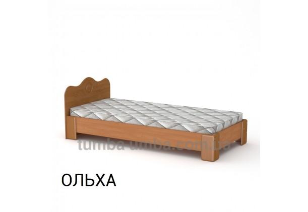 фото стандартная кровать-100 МДФ Компанит в спальню, на дачу или для общежития в цвете ольха дешево от производителя с доставкой по всей Украине