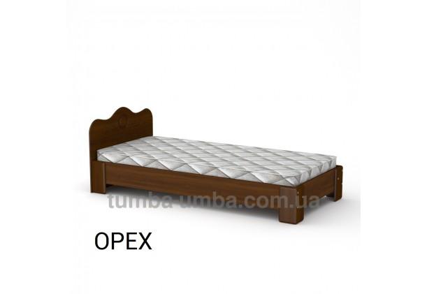 фото стандартная кровать-100 МДФ Компанит в спальню, на дачу или для общежития в цвете орех экко дешево от производителя с доставкой по всей Украине