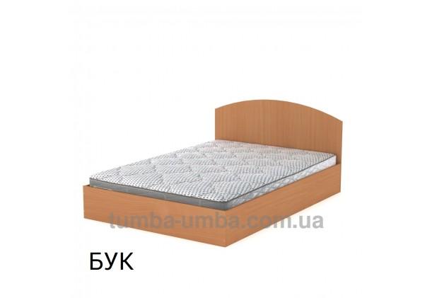 фото стандартная кровать 140 см с нишей для хранения Компанит в спальню, на дачу или для общежития в цвете бук дешево от производителя с доставкой по всей Украине