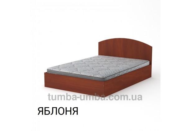 фото стандартная кровать 140 см с нишей для хранения Компанит в спальню, на дачу или для общежития в цвете яблоня дешево от производителя с доставкой по всей Украине