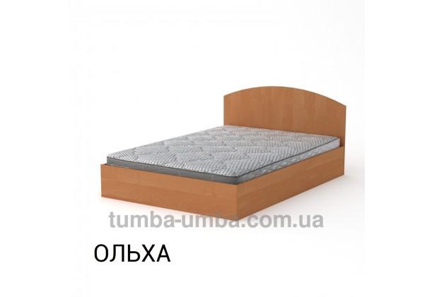фото стандартная кровать 140 см с нишей для хранения Компанит в спальню, на дачу или для общежития в цвете ольха дешево от производителя с доставкой по всей Украине