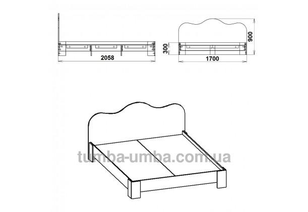 Кровать-170 МДФ