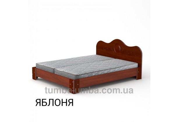фото стандартная кровать-170 МДФ Компанит в спальню, на дачу или для общежития в цвете яблоня дешево от производителя с доставкой по всей Украине